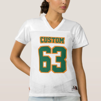 Front DARK GREEN ORANGE WHITE Womens Sports Jersey