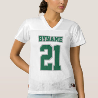 Front DARK GREEN SILVER WHITE Womens Sports Jersey