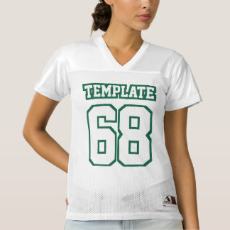 Front DARK GREEN WHITE Womens Football Jersey