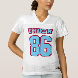 Front LIGHT BLUE MAROON WHITE Womens Sports Jersey