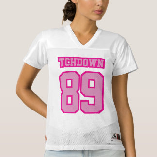 Front LIGHT PINK WHITE Womens Football Jersey