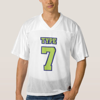 Front LIME GREEN NAVY WHITE Mens Football Jersey