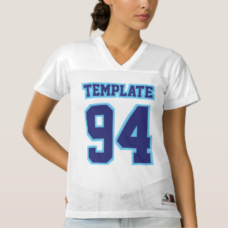 Front NAVY LIGHT BLUE WHITE Womens Football Jersey