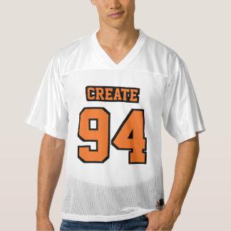 Front ORANGE BLACK WHITE Mens Football Jersey