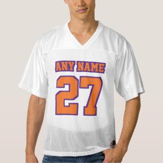 Front ORANGE PURPLE WHITE Mens Football Jersey