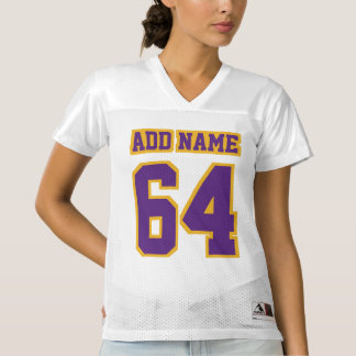 Front PURPLE GOLD WHITE Womens Football Jersey