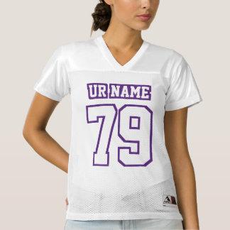 Front PURPLE WHITE Womens Football Jersey