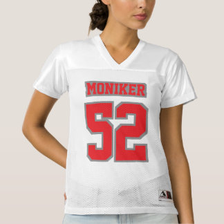Front RED GREY WHITE Womens Football Jersey