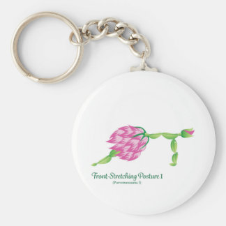 (Front-Stretching Posture I) Basic Button Keychain