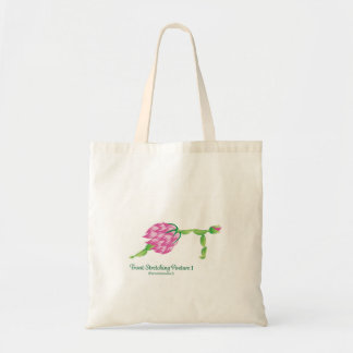 (Front-Stretching Posture I) Budget Tote Bag