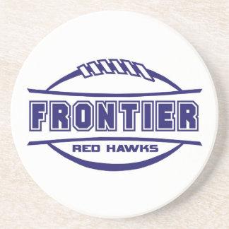 Frontier Red Hawks Logo final 1 color Navy Beverage Coasters