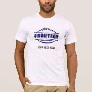 Frontier Red Hawks Logo final 1 color Navy T-Shirt