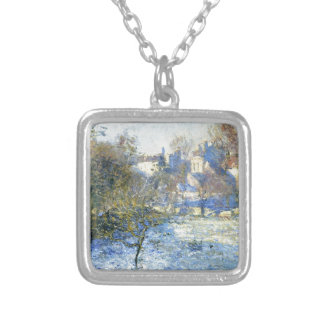 Frost by Claude Monet Silver Plated Necklace