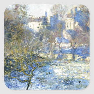 Frost by Claude Monet Square Sticker