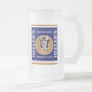 Frosty Beer Mug - Heeler's Cattle Dog Beer