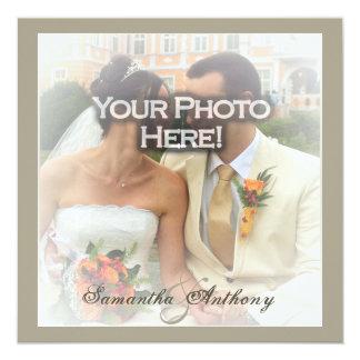 Frosty Photo Wedding Invitations