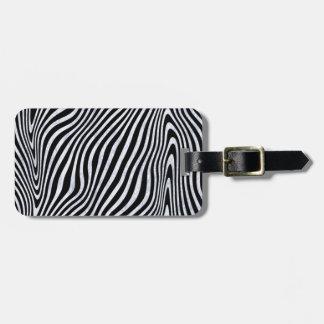 Frosty Zebra Stripes Luggage Tag