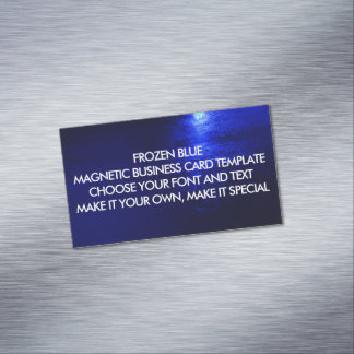 FROZEN BLUE MAGNETIC BUSINESS CARD TEMPLATE MAGNETIC BUSINESS CARDS