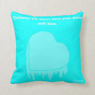 Frozen Heart Square Throw Pillow