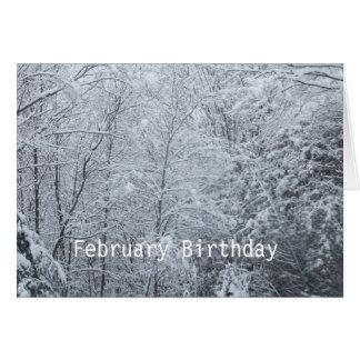 Frozen Trees-February Birthday Card