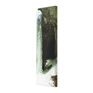 Frozen waterfall canvas print