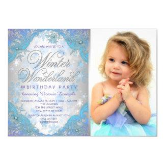 Frozen Winter Wonderland Birthday Party 11 Cm X 16 Cm Invitation Card