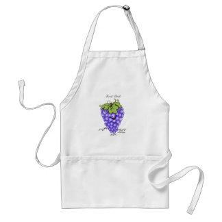 Fruit Cartoon - Grapes Standard Apron