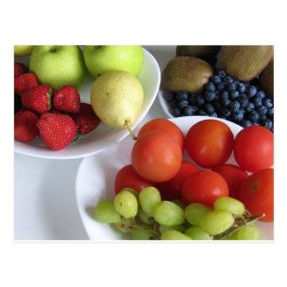 Fruit display postcard
