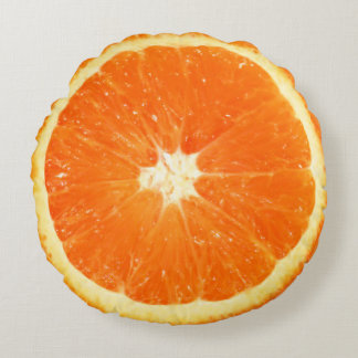 Fruit Juicy Orange Slice Round Cushion