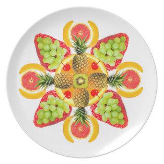 Fruit Mandala plate