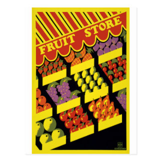 Fruit Store Postcard