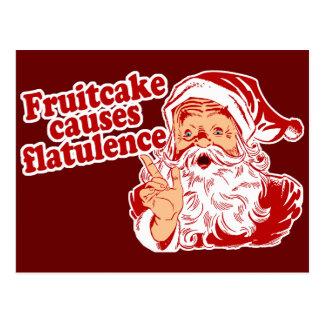 Fruitcake Causes Flatulence Postcard