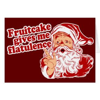 Fruitcake Flatulence Card
