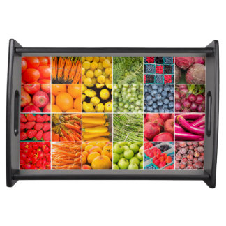 Fruits and Vegetables Collage Tray