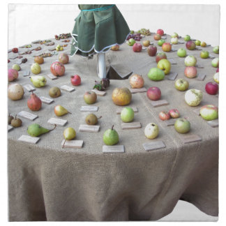 Fruits collection on the table napkin