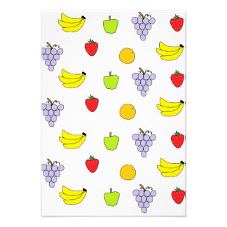 Fruits Pattern Custom Invitations