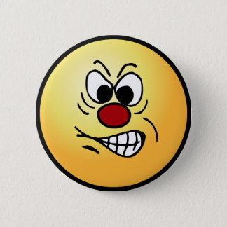Frustrated Smiley Face Grumpey 6 Cm Round Badge