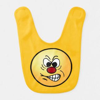 Frustrated Smiley Face Grumpey Bib