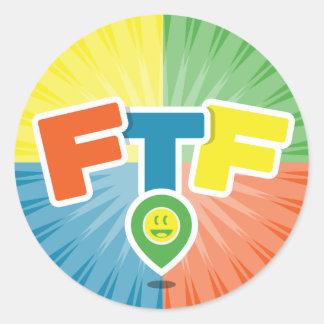 FTF (First to Find) Swag Round Sticker