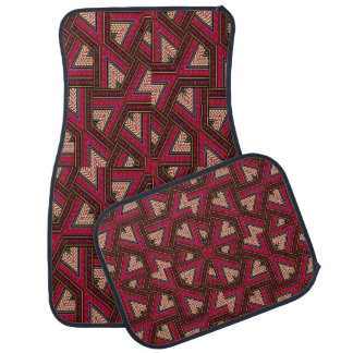 Fuchsia and Burgundy Abstract Set of 4 Car Mats