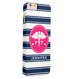 FUCHSIA AND NAVY STRIPE PHYSICAL THERAPY PT BARELY THERE iPhone 6 PLUS CASE