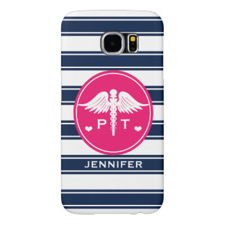 FUCHSIA AND NAVY STRIPE PHYSICAL THERAPY PT SAMSUNG GALAXY S6 CASES