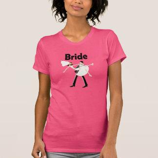 Fuchsia Bride Shirt with Bride & Groom