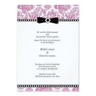 Fuchsia Floral Wedding Invitation