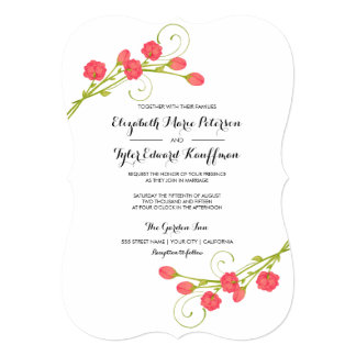 Fuchsia Garden Roses - wedding invitation