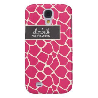 Fuchsia Giraffe Pern Galaxy S4 Case