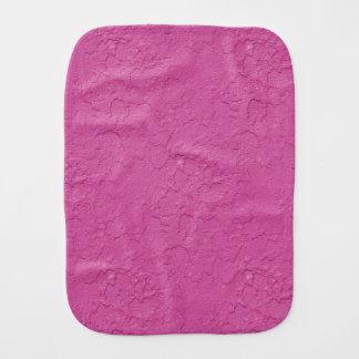 Fuchsia Pink Stucco Look Burp Cloth