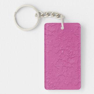 Fuchsia Pink Stucco Look Key Ring