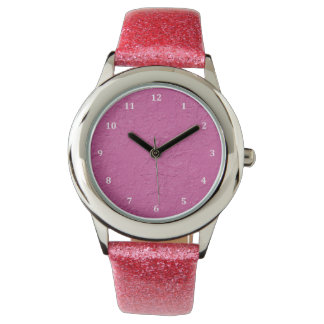 Fuchsia Pink Stucco Look Watch