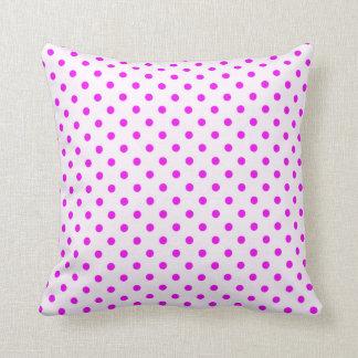 Fuchsia Polka Dots Throw Pillow